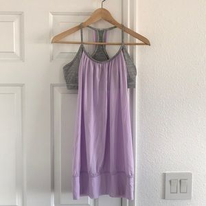 Lululemon lavender gray bra tank top woman size 10